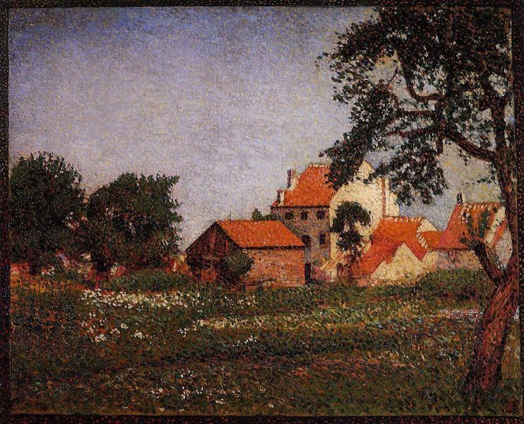Houses at La Hulpe - Georges Lemmen
