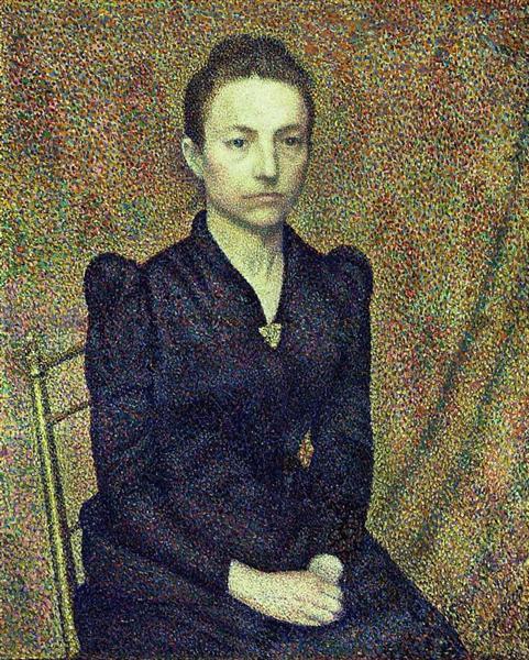 Portrait of the Artist's Sister, 1891 - Georges Lemmen