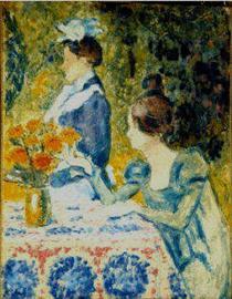 Two Women in the Garden - Жорж Леммен