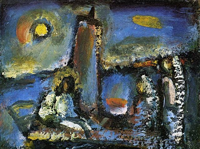 Christ on the Lake - Georges Rouault