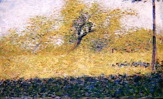 Edge of Wood, Springtime, 1883 - Georges Seurat