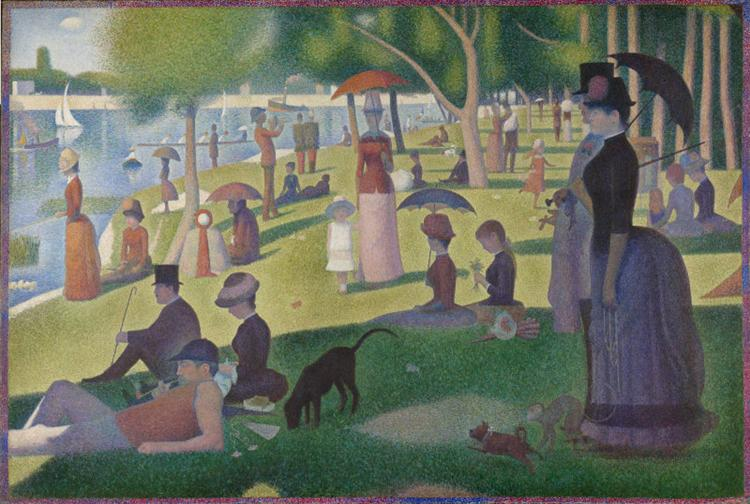 A Sunday on La Grande Jatte -1884, 1884 - 1886 - Georges Seurat