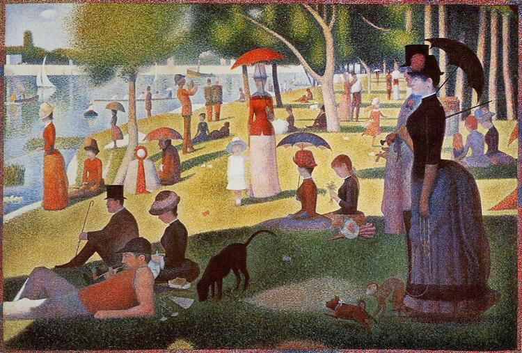 Sunday Afternoon on the Island of La Grande Jatte, 1884 - 1886 - Georges Seurat