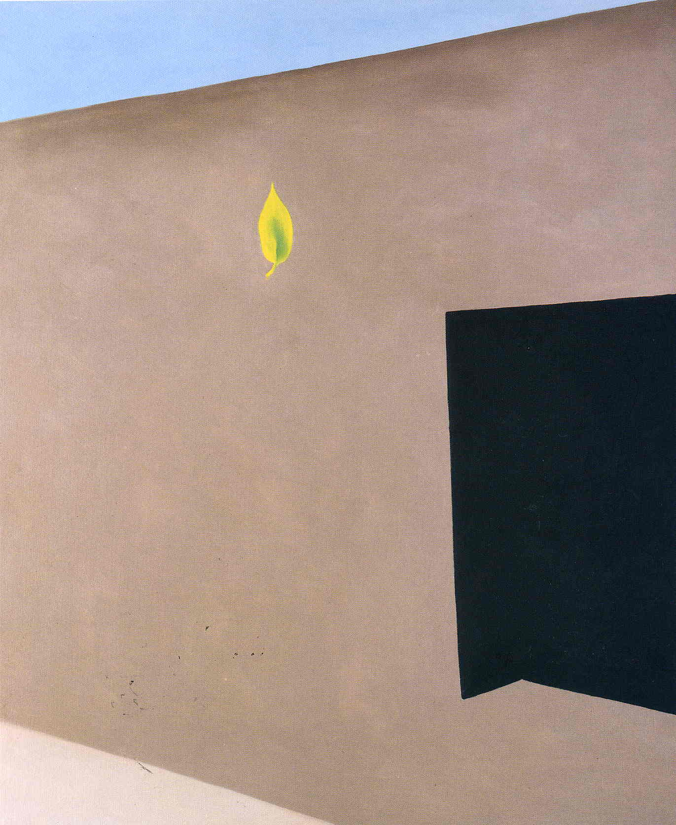 Patio Door With Green Leaf Georgia OKeeffe WikiArtorg - Georgia patio