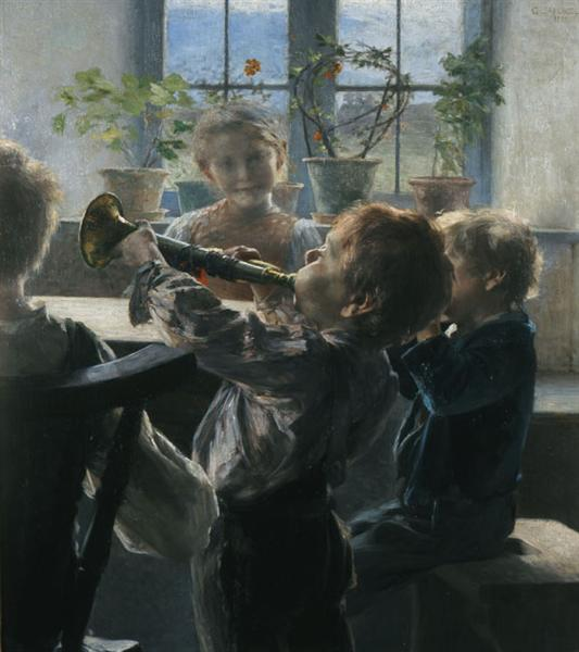 "Fragment from the ""Children's Concert"", 1899 - Georgios Jakobides"