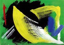 Composition à fond vert - Жерар Шнайдер