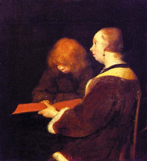 The Reading Lesson - Герард Терборх