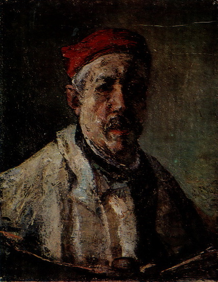 Self-Portrait With Red Bonnet, 1923 - Георге Петрашку