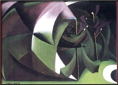 Alberi Mutilati, 1918 - Giacomo Balla