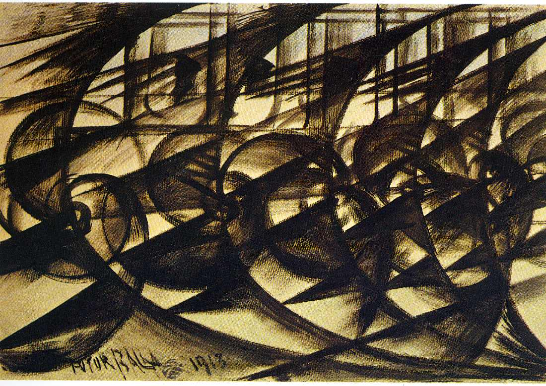 Speeding Car (study). Abstract Speed., 1913 - Giacomo ...