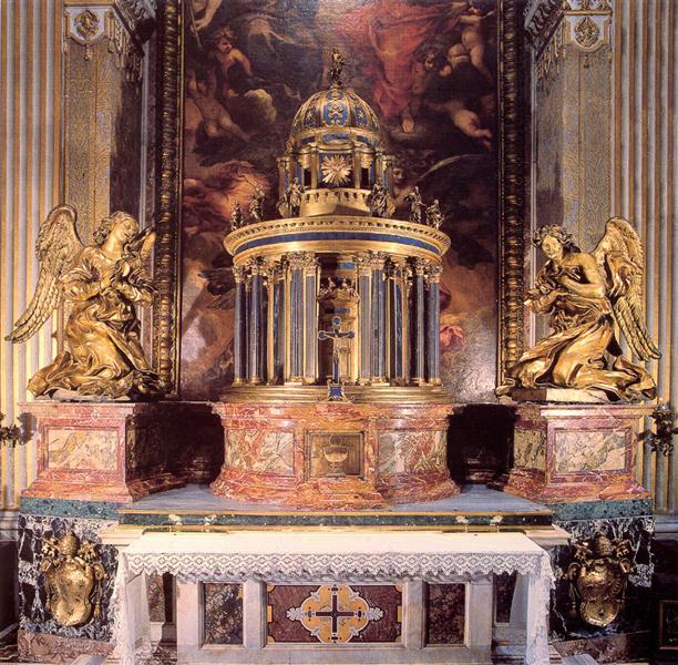 Altar of the Cappella del Sacramento - Gian Lorenzo Bernini