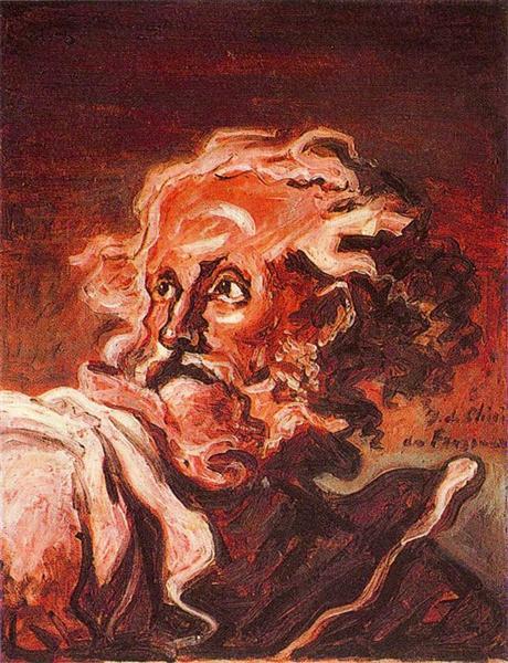 Old man's head, 1964 - Giorgio de Chirico