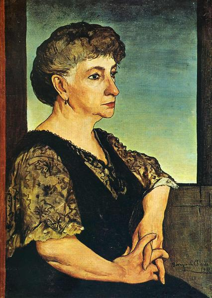 Portrait of artist's mother, 1911 - Giorgio de Chirico