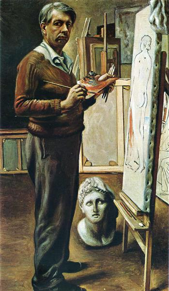 Self Portrait in the Studio, 1935 - Giorgio de Chirico