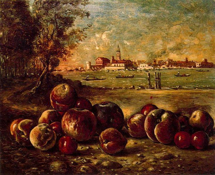 Still life in Venetian landscape, 1952 - Giorgio de Chirico