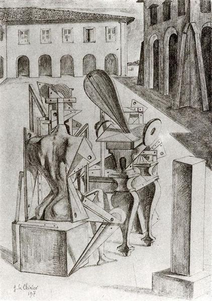 The Mathematicians, 1917 - Giorgio De Chirico