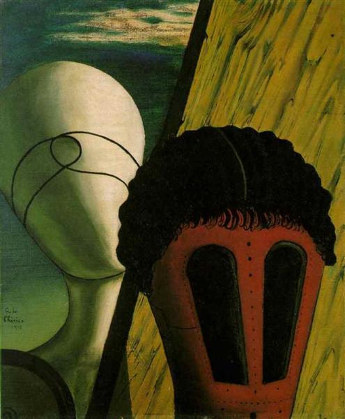 Two Heads, 1918 - Giorgio de Chirico