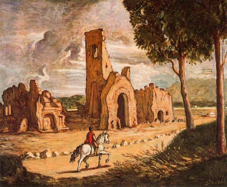 Via Appia, 1954 - Giorgio de Chirico