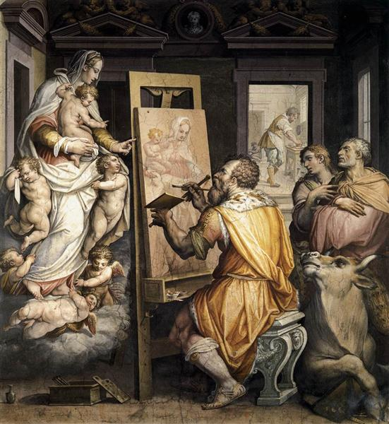 St. Luke Painting the Virgin, c.1565 - Giorgio Vasari