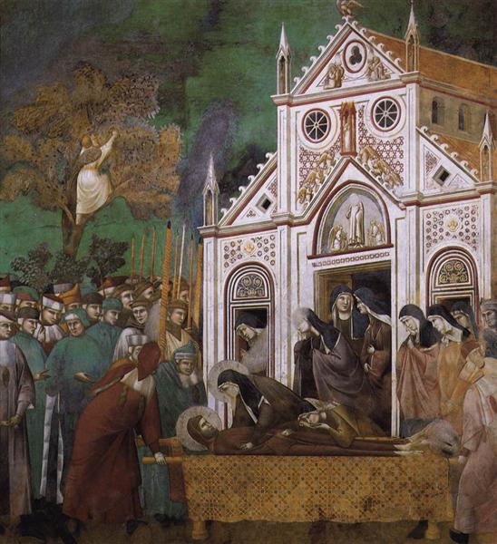 St. Francis Mourned by St. Clare, 1300 - Giotto