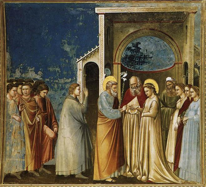 The Marriage of the Virgin, c.1305 - Giotto