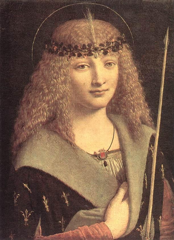Saint Sebastian, c.1490 - c.1499 - Giovanni Antonio ...