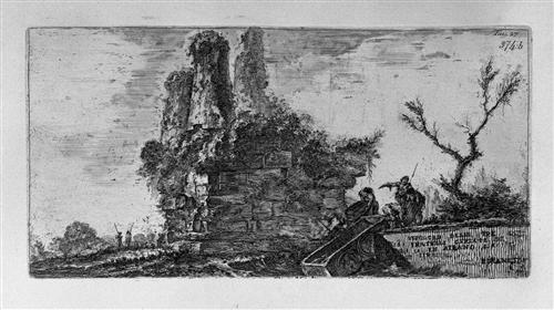 Amphitheater of Pula in Istria near the sea - Giovanni Battista Piranesi