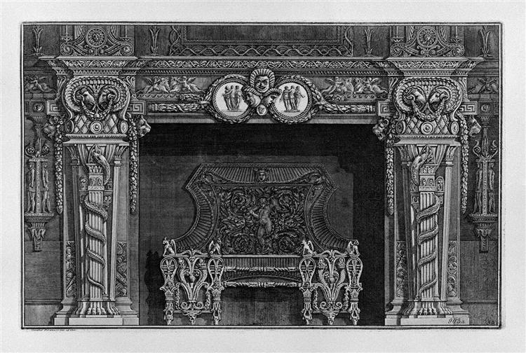 fireplace stage three masks in the frieze between two medallions with the graces in the. Black Bedroom Furniture Sets. Home Design Ideas