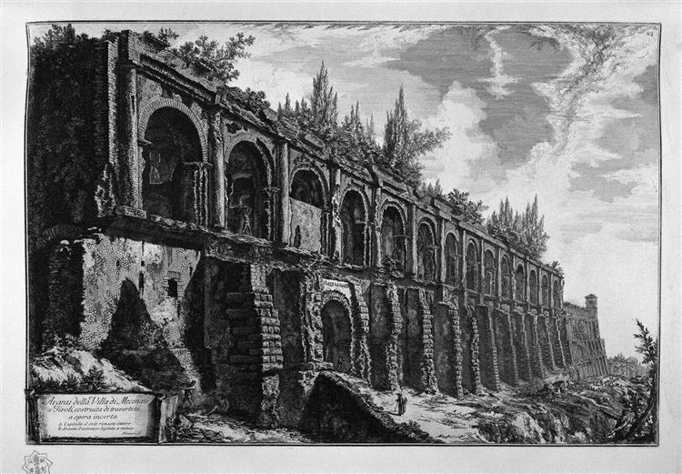 Remains of the Villa of Maecenas at Tivoli - Giovanni Battista Piranesi