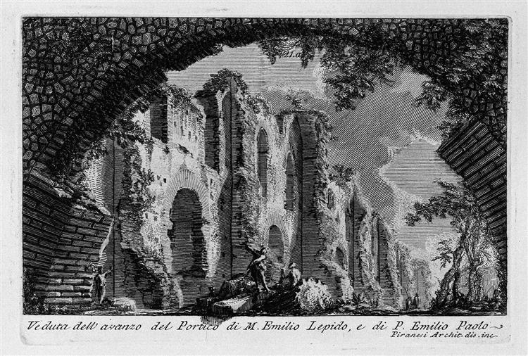 the roman antiquities t 1 plate xx portico of marcus