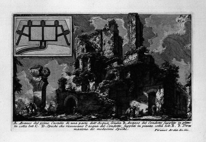 The Roman antiquities, t. 1, Plate XXVI. Aqua Julia., 1756