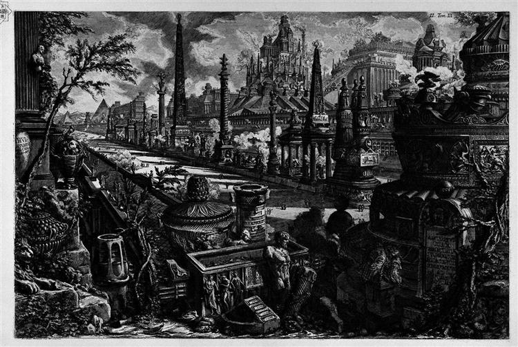 The Roman antiquities, t. 3, Plate II. Following the above table. - Giovanni Battista Piranesi