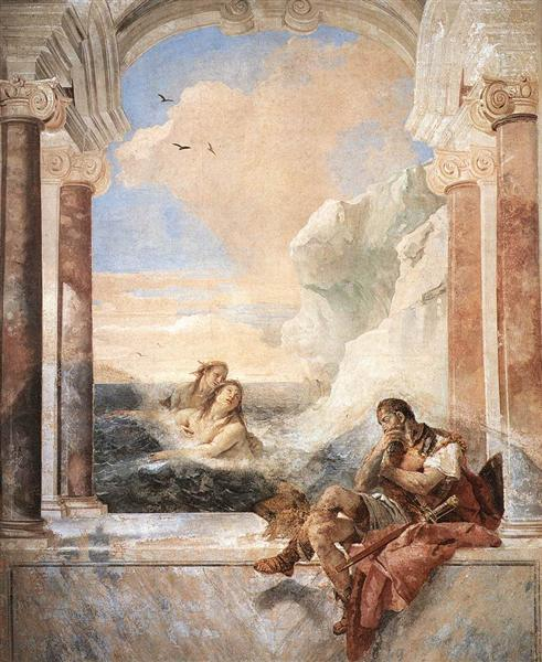Achilles consoled by his mother, Thetis, 1757 - Giovanni Battista Tiepolo