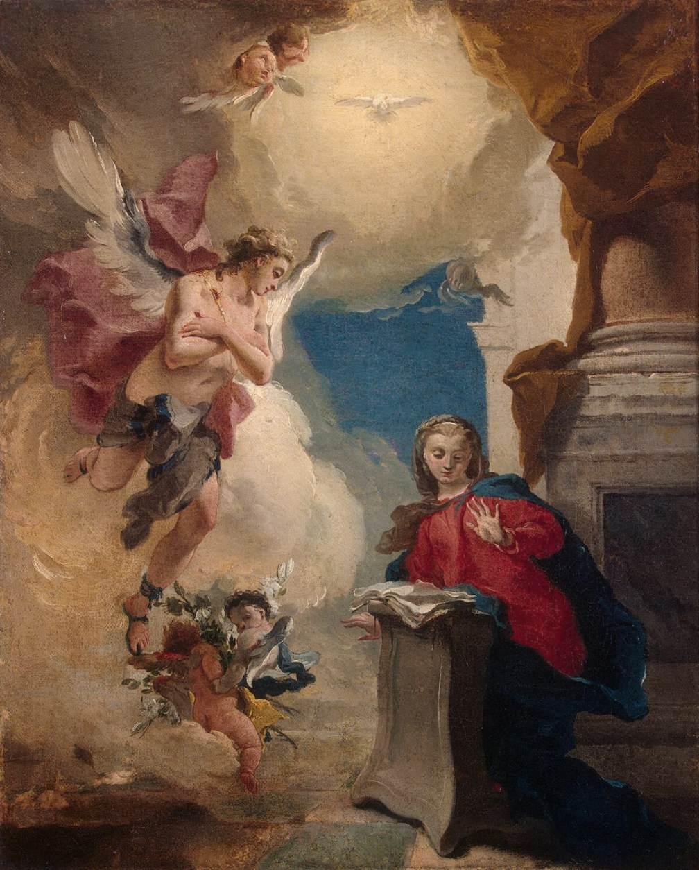 Annunciation giovanni battista tiepolo for The giovanni