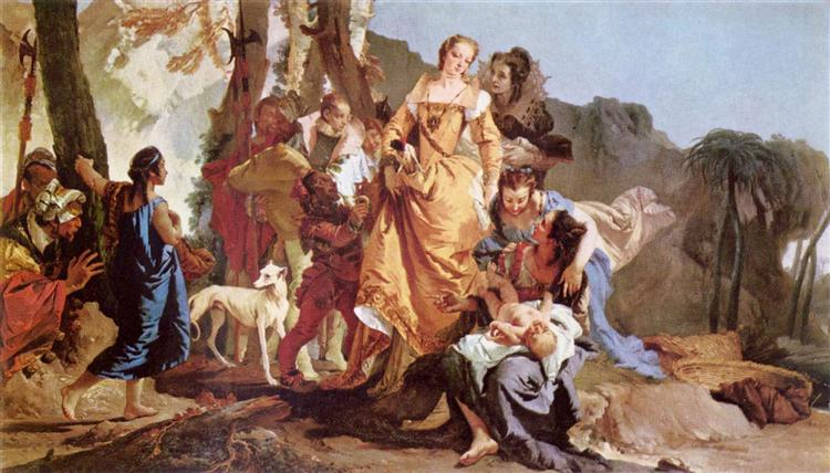 Finding of Moses, c.1730 - Giovanni Battista Tiepolo