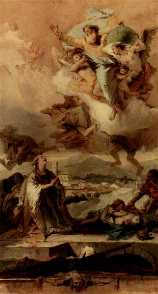 Saint Thecla Liberating the City of Este from the Plague, 1758 - 1759 - Giovanni Battista Tiepolo