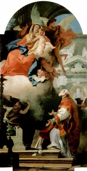 The Virgin Appearing to St Philip Neri, 1739 - 1740 - Giovanni Battista Tiepolo