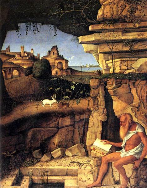 Saint Jerome Reading, 1480 - 1490 - Giovanni Bellini
