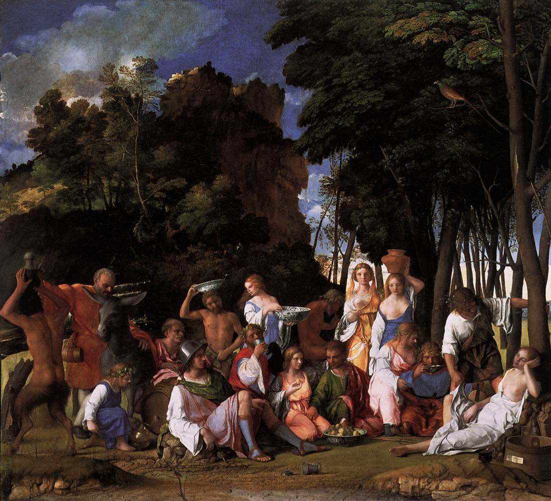 The Feast Of The Gods 1514 1516 Giovanni Bellini