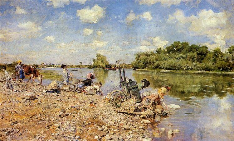 The Laundry, 1874 - Giovanni Boldini