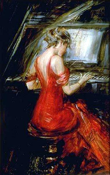 The Woman in Red - Giovanni Boldini