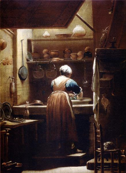 The Kitchenmaid, 1712 - Giuseppe Maria Crespi