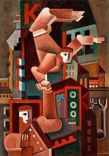 Acrobats in Paris, 1924 - Gosta Adrian-Nilsson