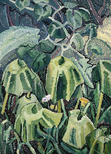 Pumpkin leaves drooping, 1926 - Grace Cossington Smith