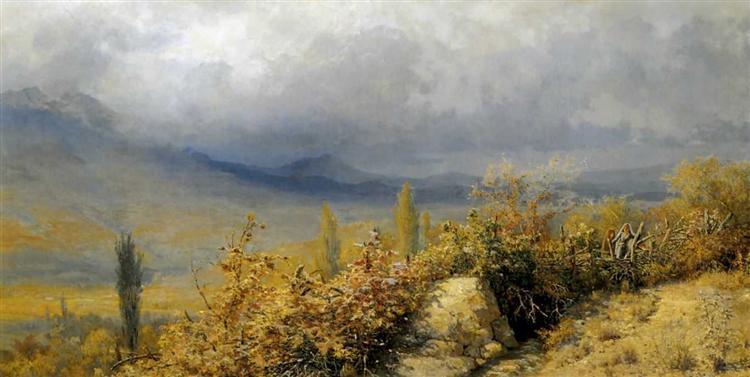 Autumn landscape in Crimea, 1884 - Grigoriy Myasoyedov