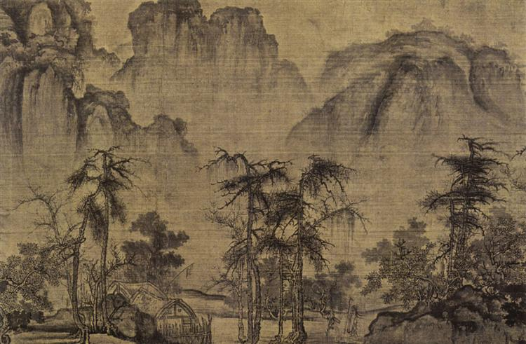 Clearing Autumn Skies over Mountains and Valleys (detail), 1072 - Guo Xi