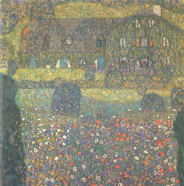 Country House by the Attersee, c.1914 - Gustav Klimt