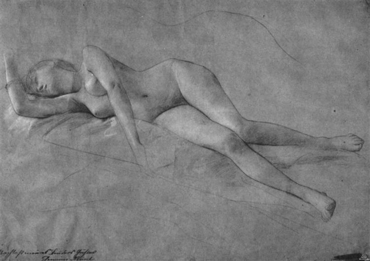 Female Nude, 1887 - Gustav Klimt