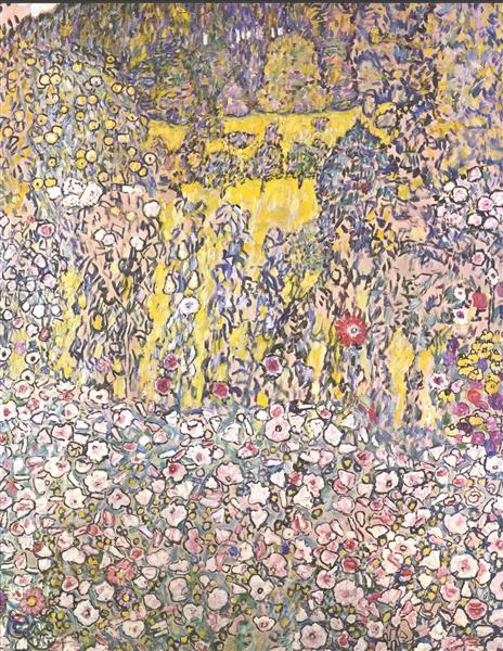 Horticultural landscape with a hilltop, 1916 - Gustav Klimt