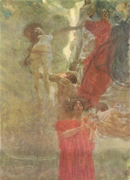 Painted composition design to medicine, c.1887 - c.1888 - Gustav Klimt